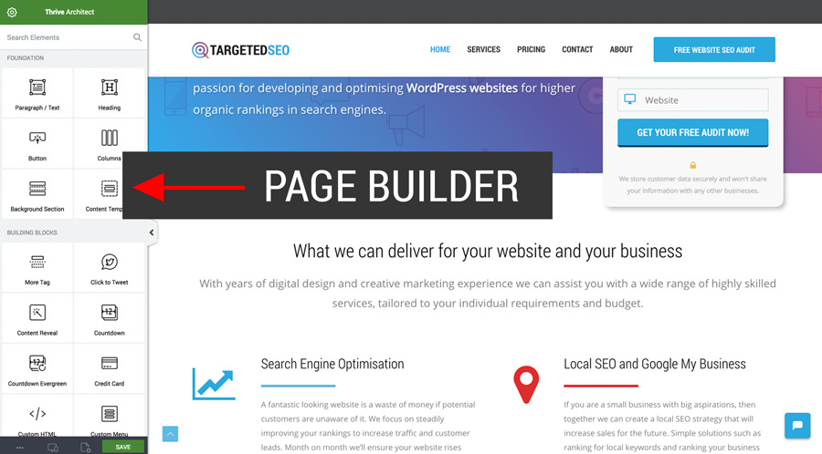Thrive Architect - powerful page builder for WordPress