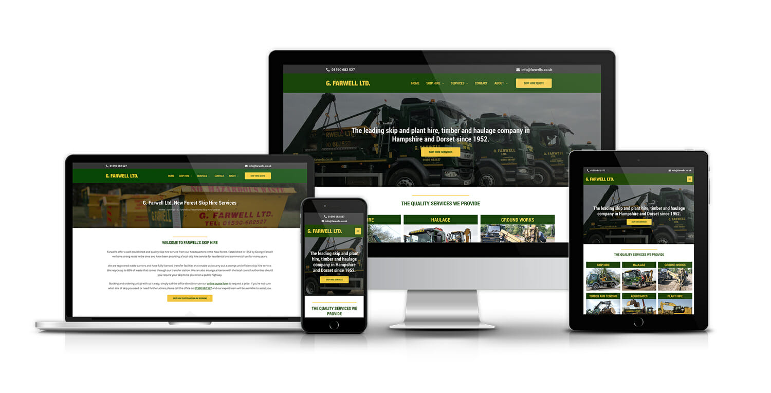 skip hire company web design and SEO